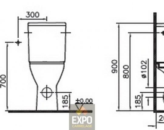 pack wc vitra s50 sur lev pmr expo carrelage. Black Bedroom Furniture Sets. Home Design Ideas